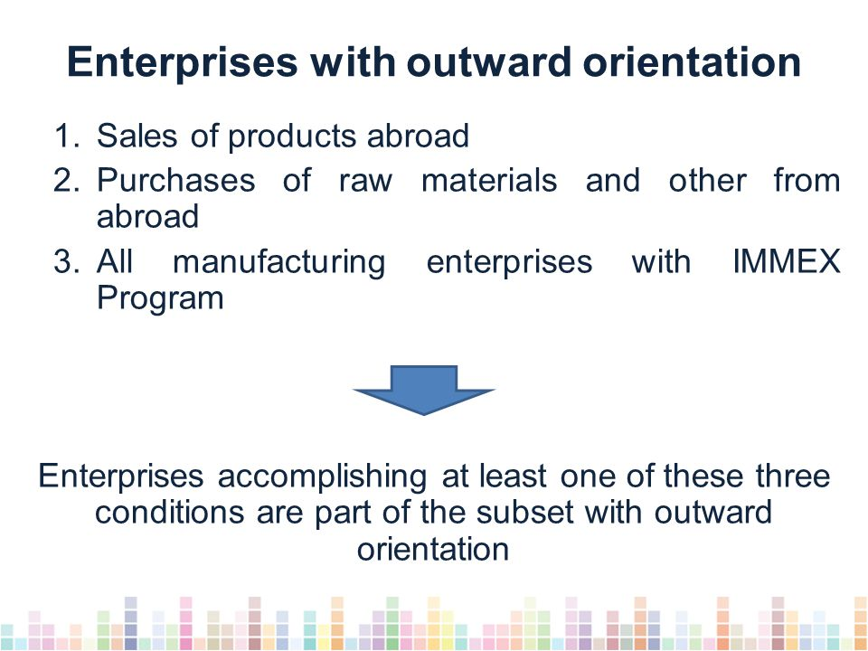 Share of manufacturing outward-oriented enterprises, 2007-2012