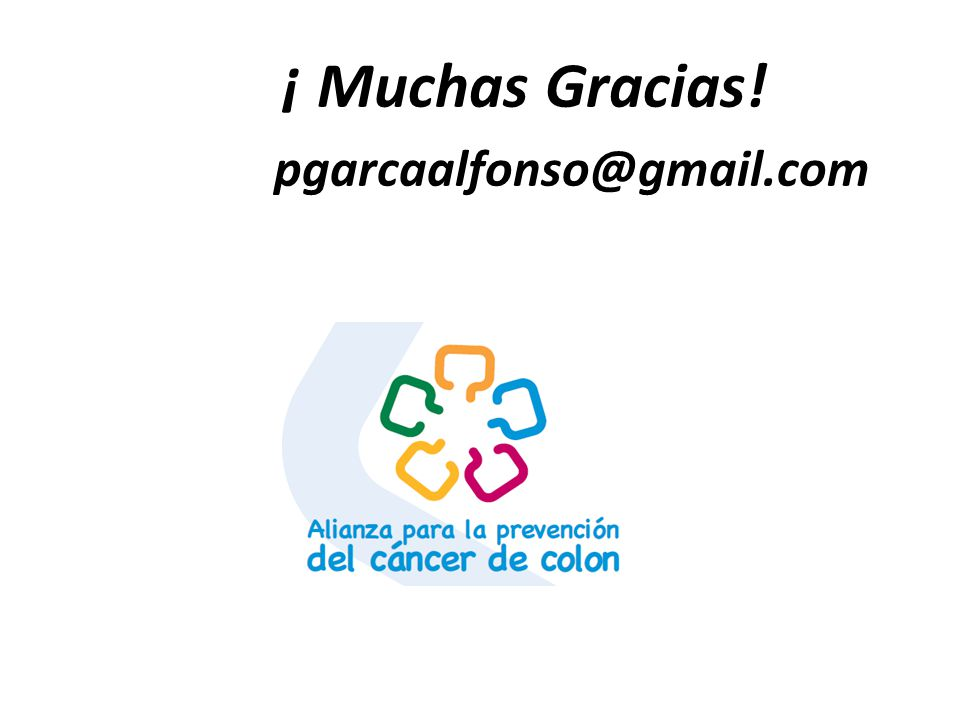 ¡ Muchas Gracias! pgarcaalfonso@gmail.com