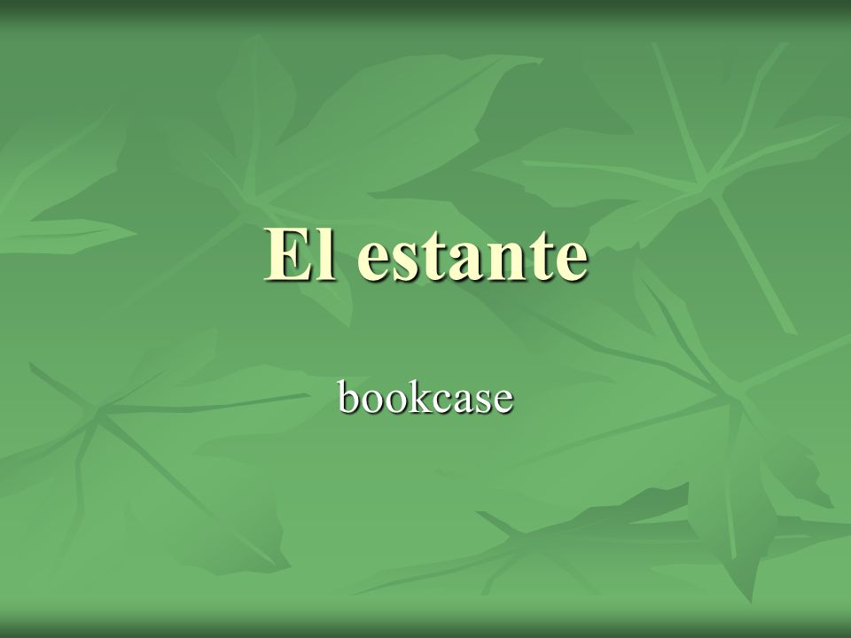 El estante bookcase