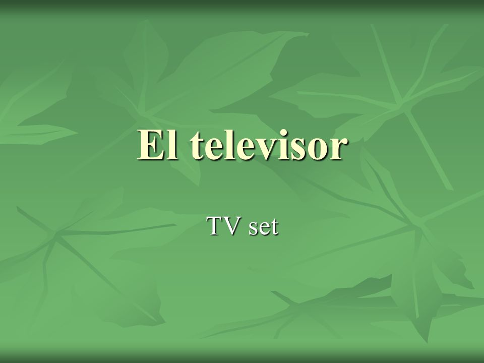 El televisor TV set