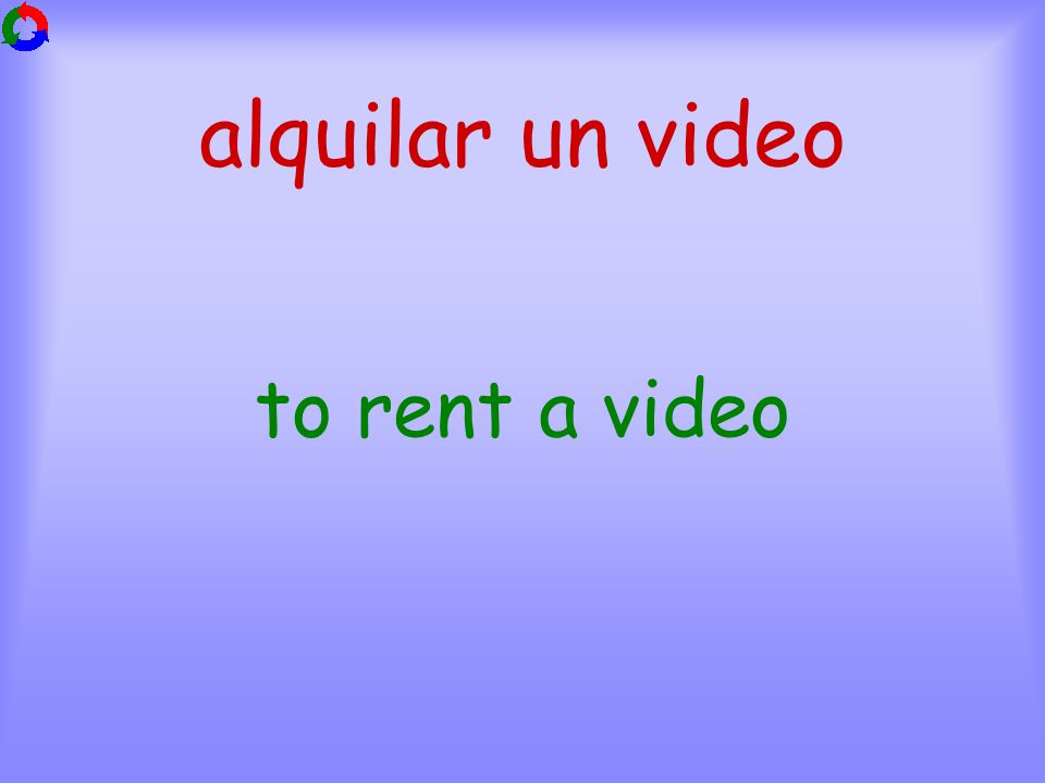 alquilar un video to rent a video
