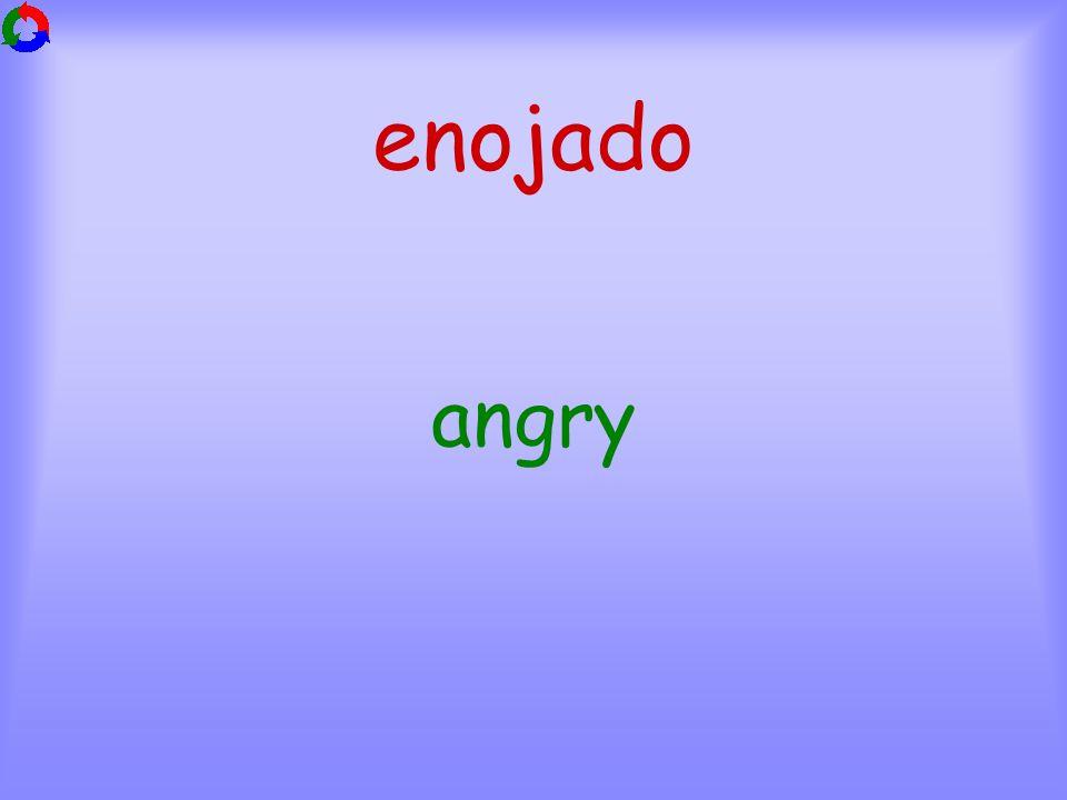 enojado angry