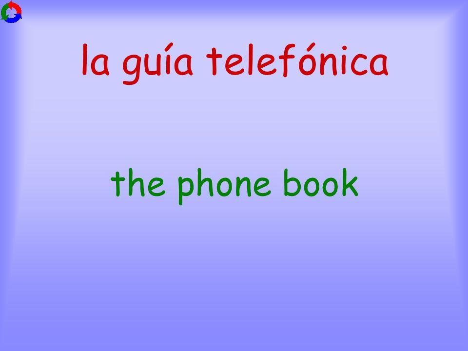 la guía telefónica the phone book