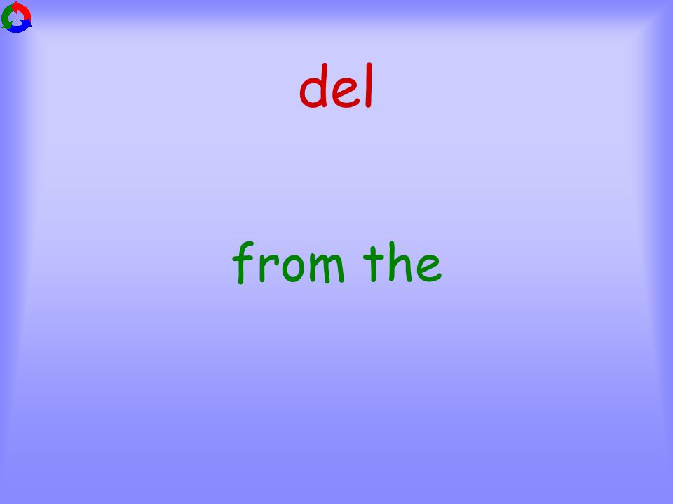 del from the
