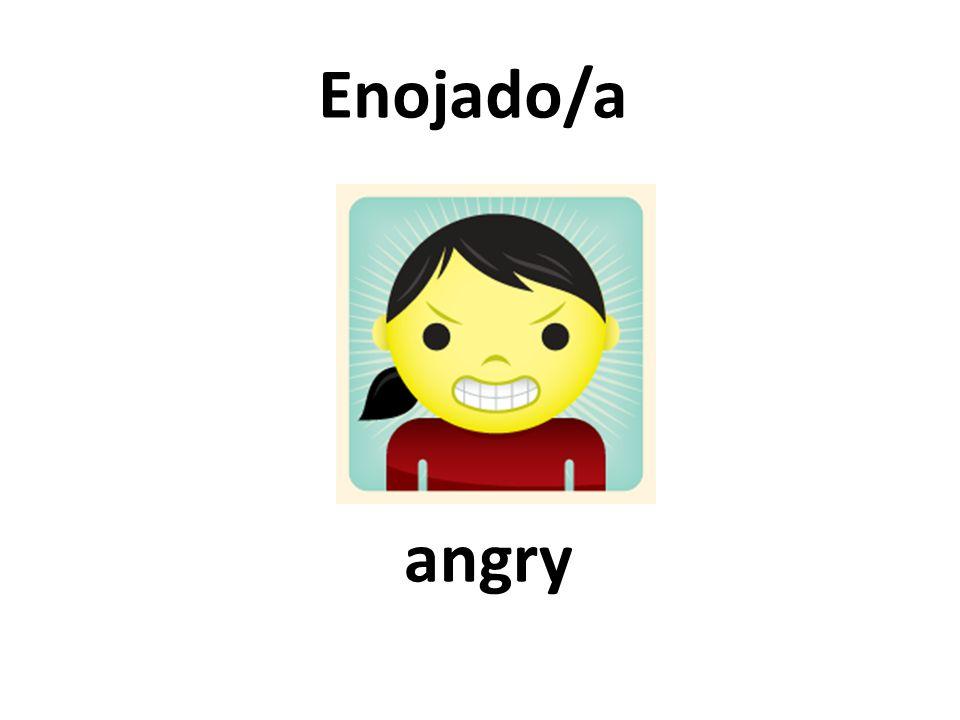 angry Enojado/a
