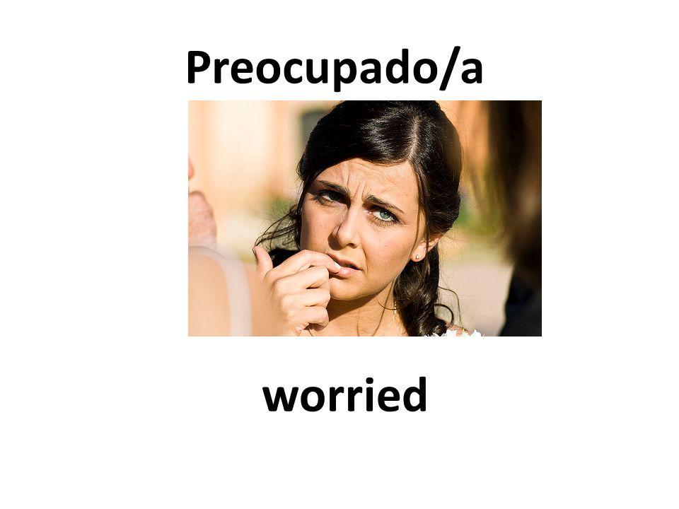 worried Preocupado/a