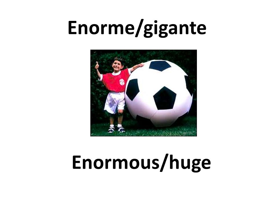 Enormous/huge Enorme/gigante