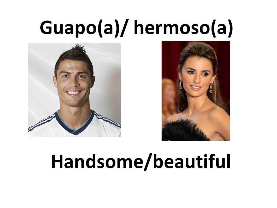 Handsome/beautiful Guapo(a)/ hermoso(a)