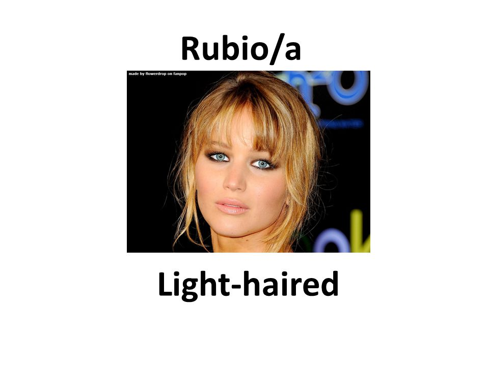 Light-haired Rubio/a