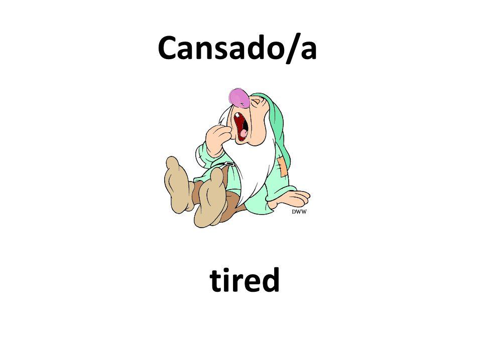 tired Cansado/a