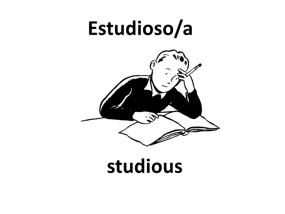 studious Estudioso/a