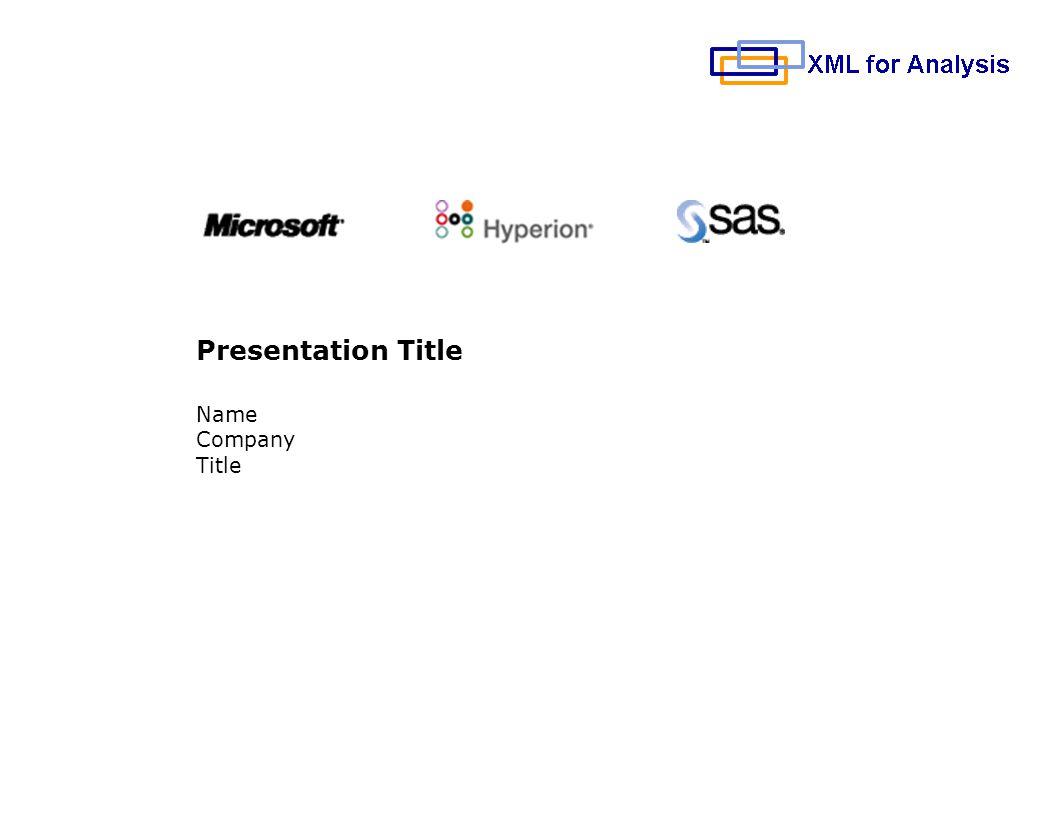 Presentation Title Name Company Title