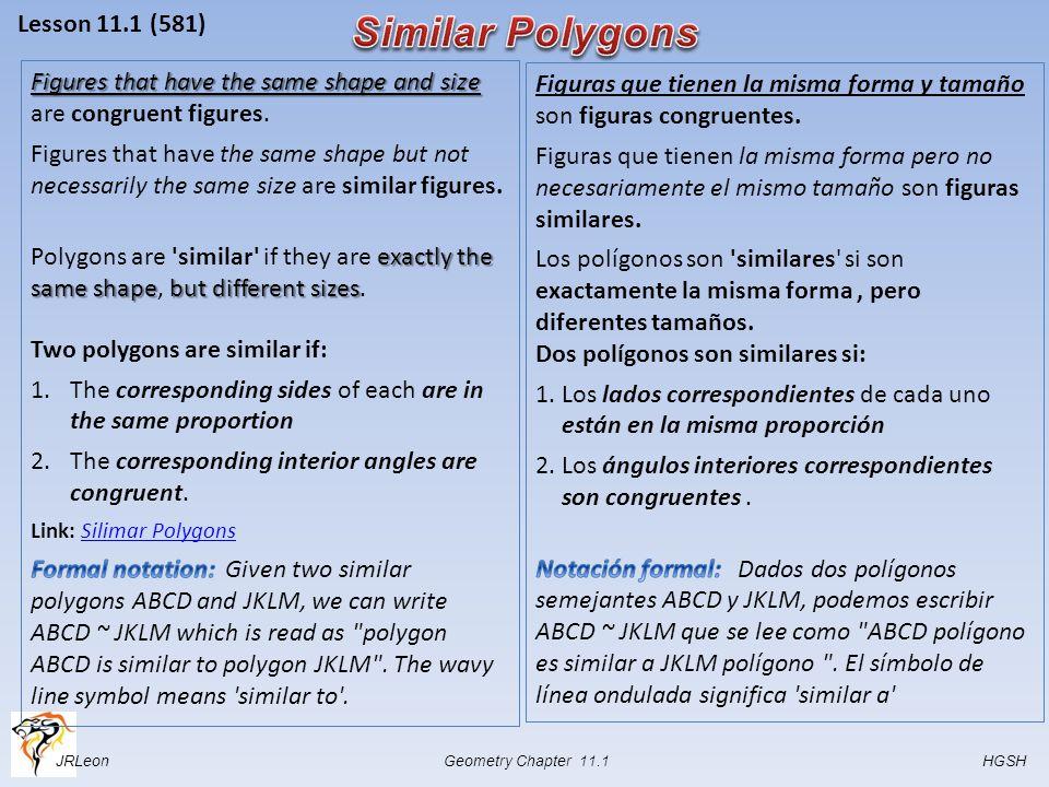 JRLeon Geometry Chapter 11.1 HGSH Lesson 11.1 (581)