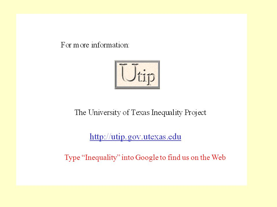 Type Inequality into Google to find us on the Web