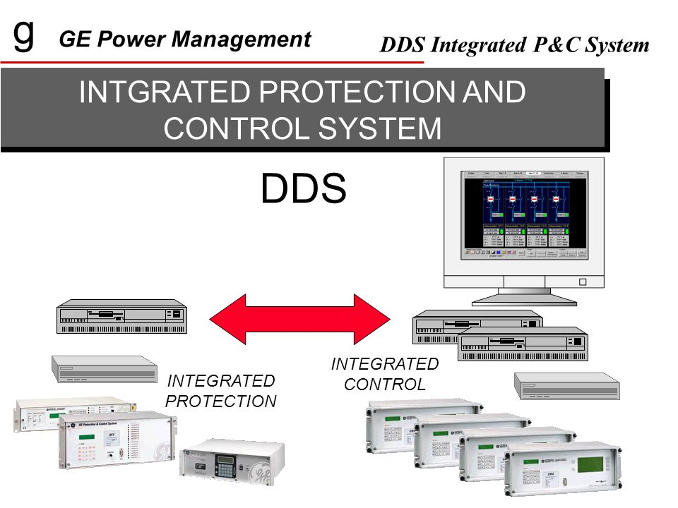g GE Power Management DDS Integrated P&C System INTGRATED PROTECTION AND CONTROL SYSTEM DDS INTEGRATED PROTECTION INTEGRATED CONTROL
