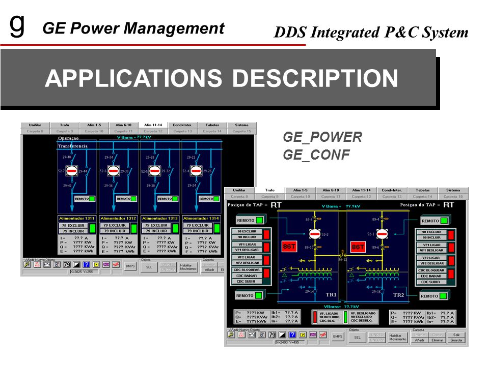 g GE Power Management DDS Integrated P&C System APPLICATIONS DESCRIPTION GE_POWER GE_CONF
