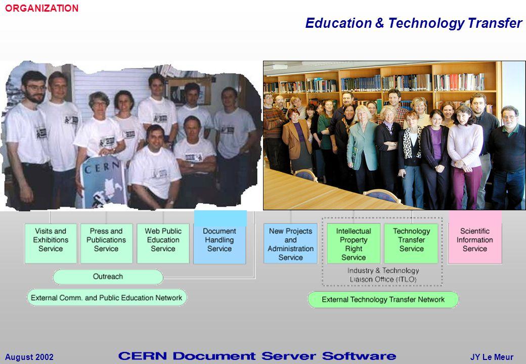 JY Le MeurAugust 2002 ORGANIZATION Education & Technology Transfer