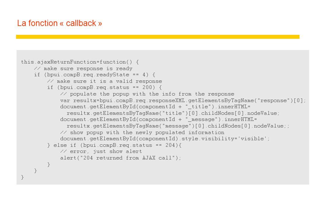 La fonction « callback »
