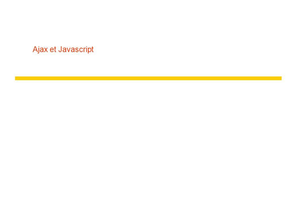 Ajax et Javascript