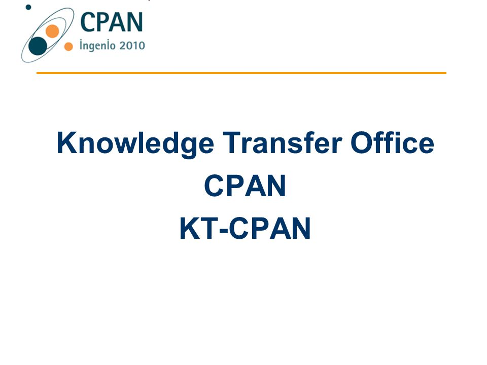 Knowledge Transfer Office CPAN KT-CPAN
