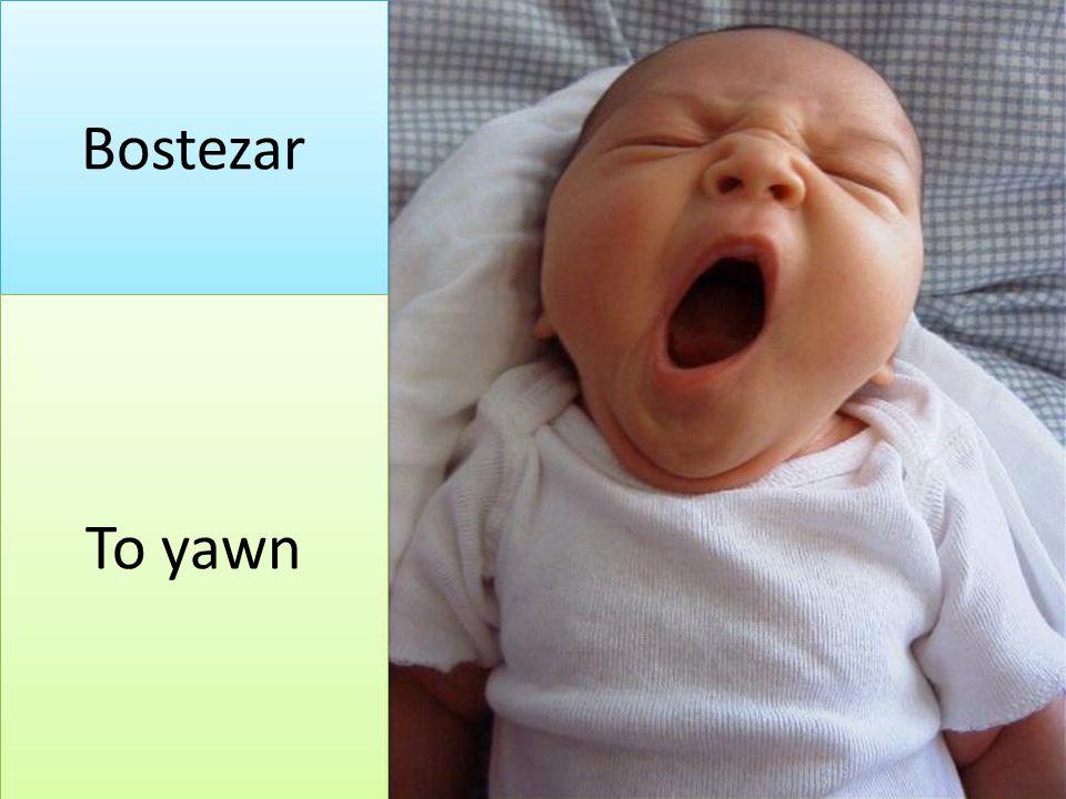 Bostezar To yawn