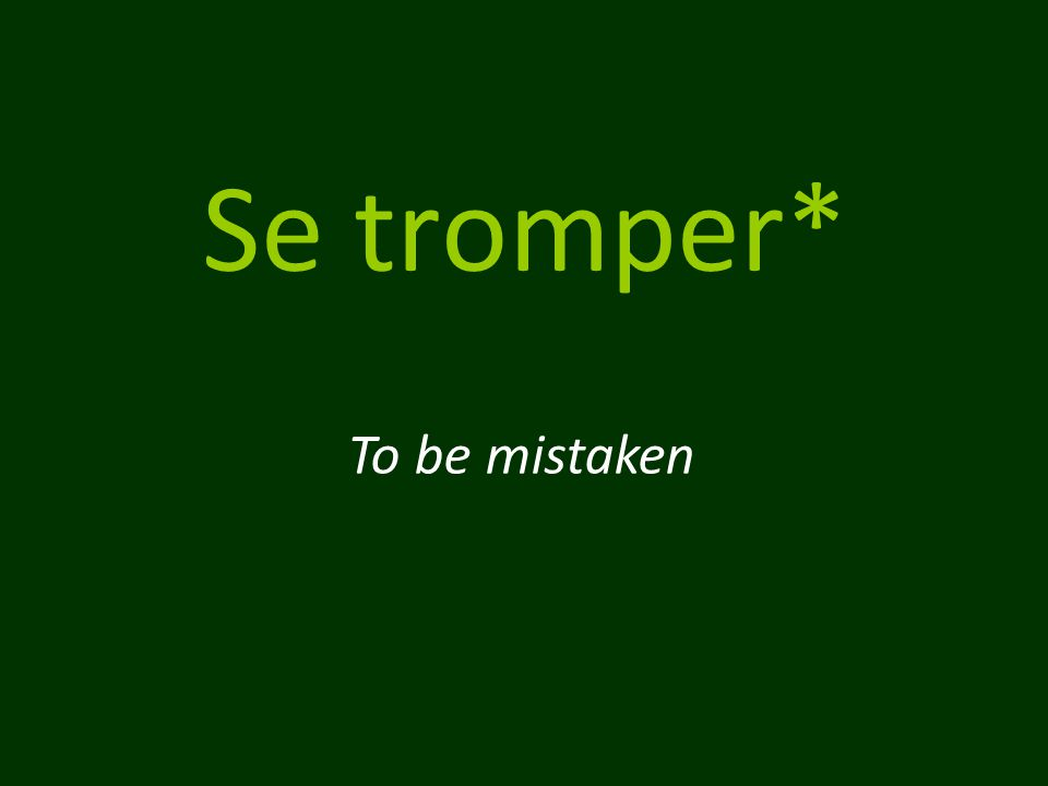 Se tromper* To be mistaken