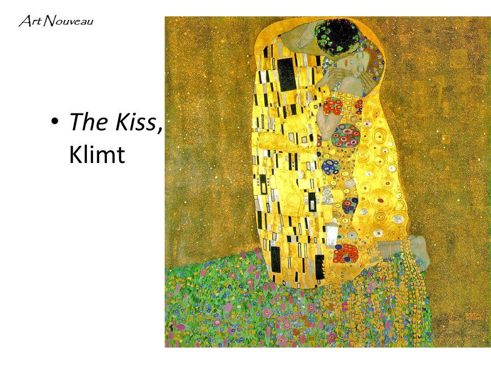 The Kiss, Klimt Art Nouveau