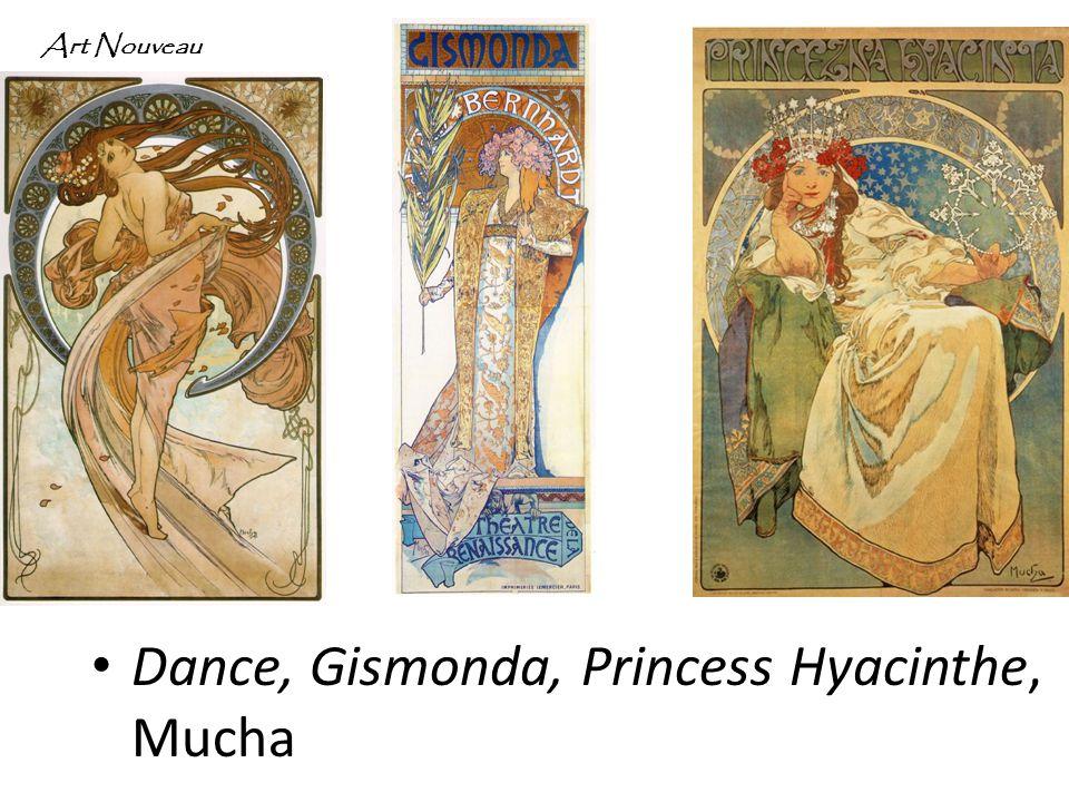 Dance, Gismonda, Princess Hyacinthe, Mucha Art Nouveau