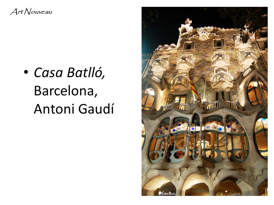 Casa Batlló, Barcelona, Antoni Gaudí Art Nouveau