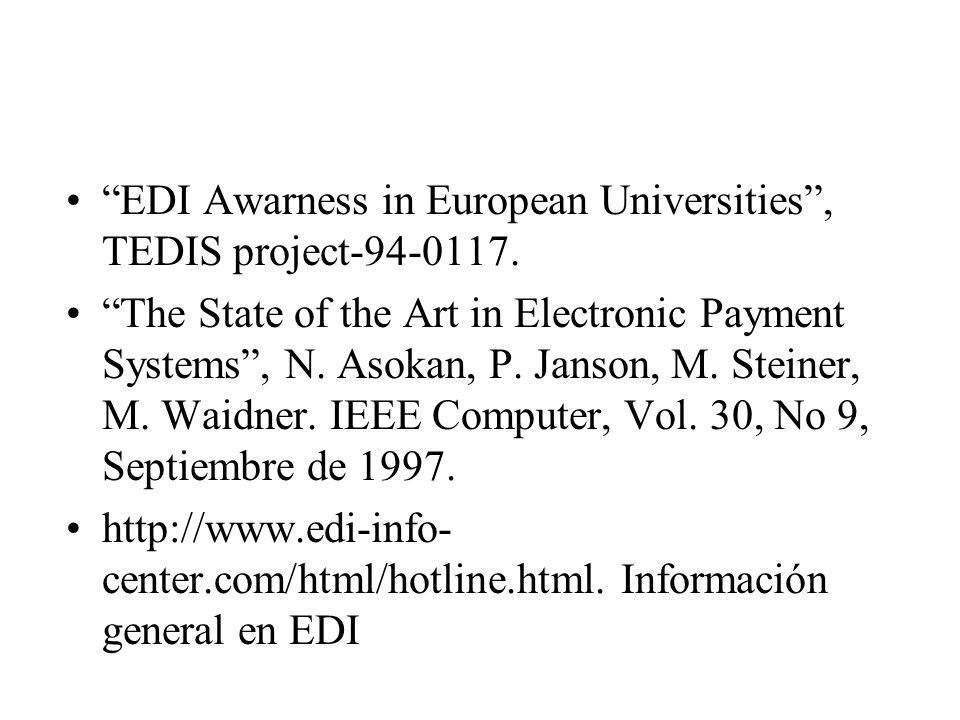 EDI Awarness in European Universities , TEDIS project-94-0117.