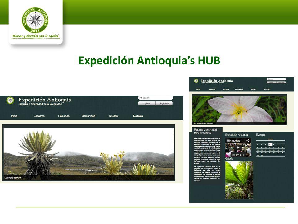 Expedición Antioquia's HUB