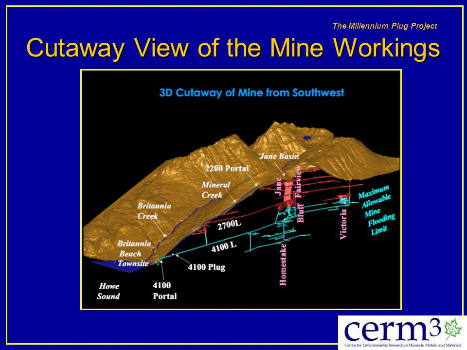 The Millennium Plug Project Cutaway View of the Mine Workings