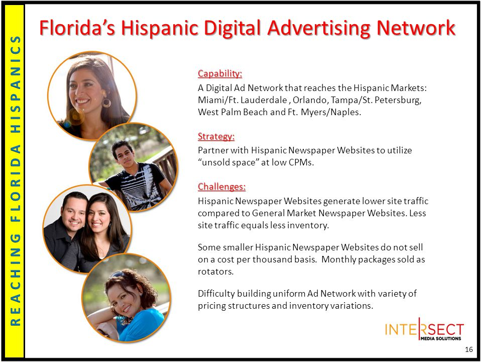 Capability: A Digital Ad Network that reaches the Hispanic Markets: Miami/Ft.