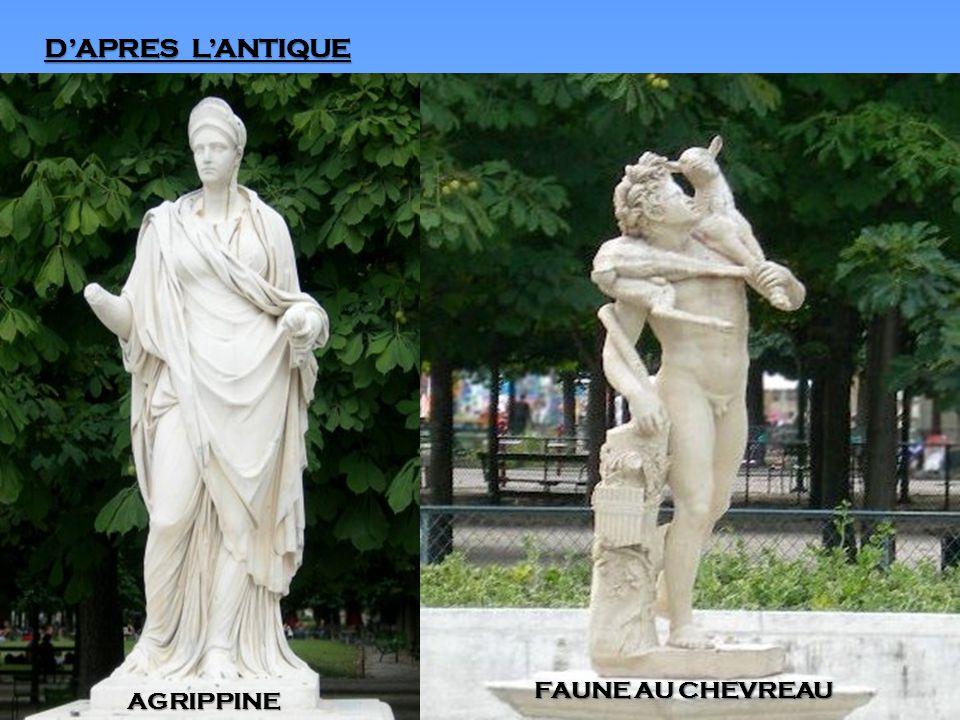 D'APRES L'ANTIQUE AGRIPPINE FAUNE AU CHEVREAU
