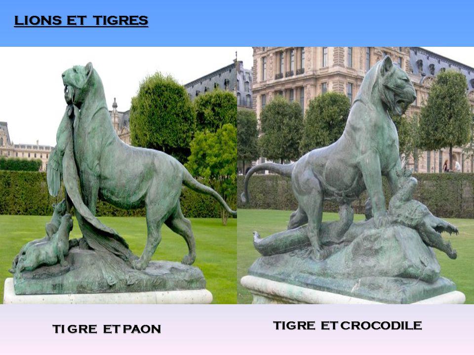 LIONS ET TIGRES TI GRE ET PAON TIGRE ET CROCODILE