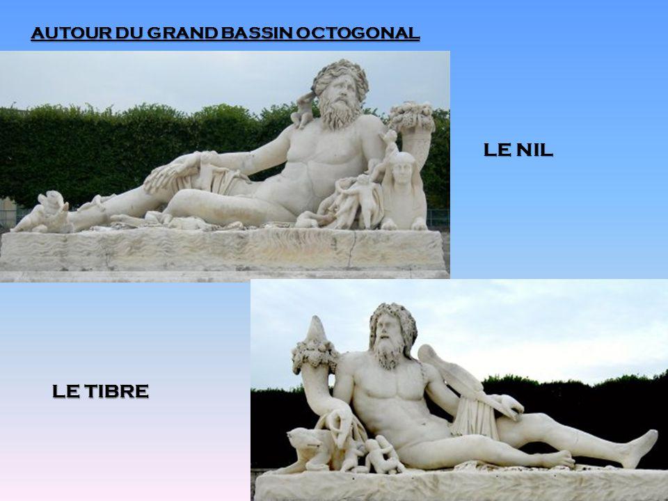 AUTOUR DU GRAND BASSIN OCTOGONAL LE NIL LE TIBRE