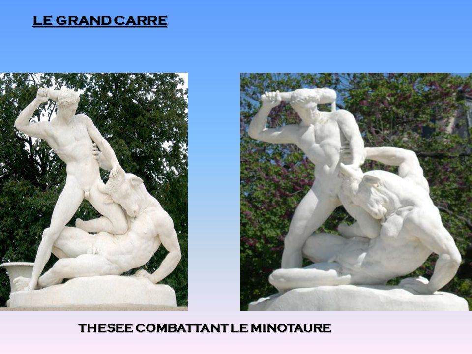 LE GRAND CARRE THESEE COMBATTANT LE MINOTAURE