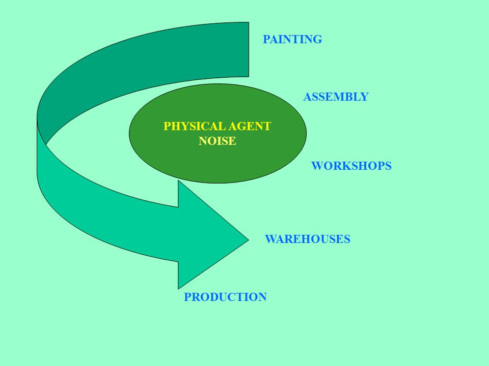 PHYSICAL AGENT NOISE PRODUCTION WAREHOUSES WORKSHOPS ASSEMBLY PAINTING