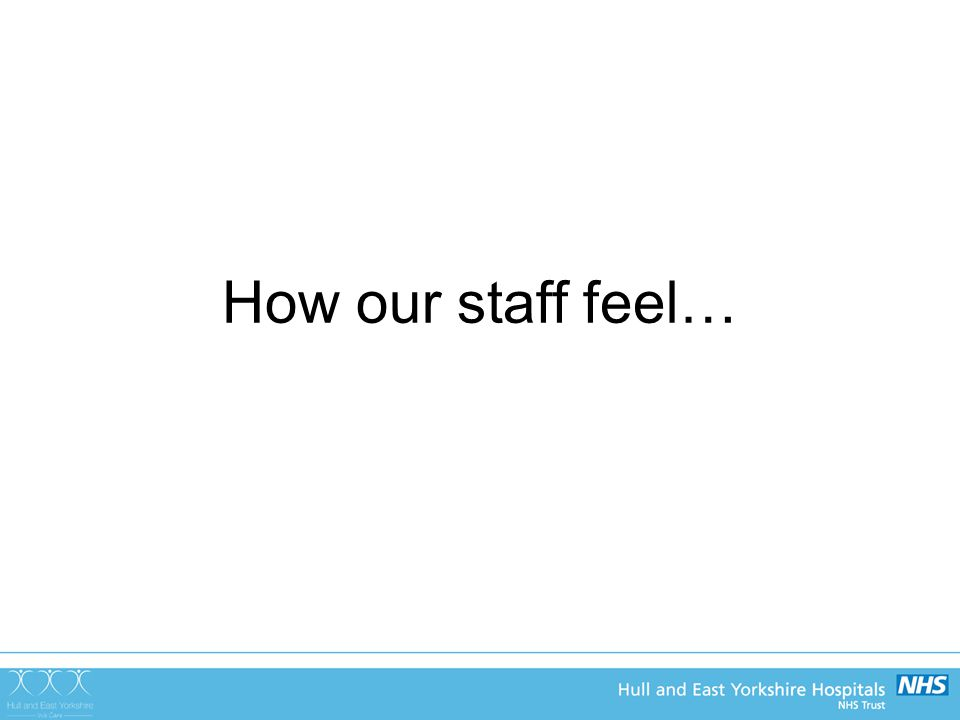 How our staff feel…