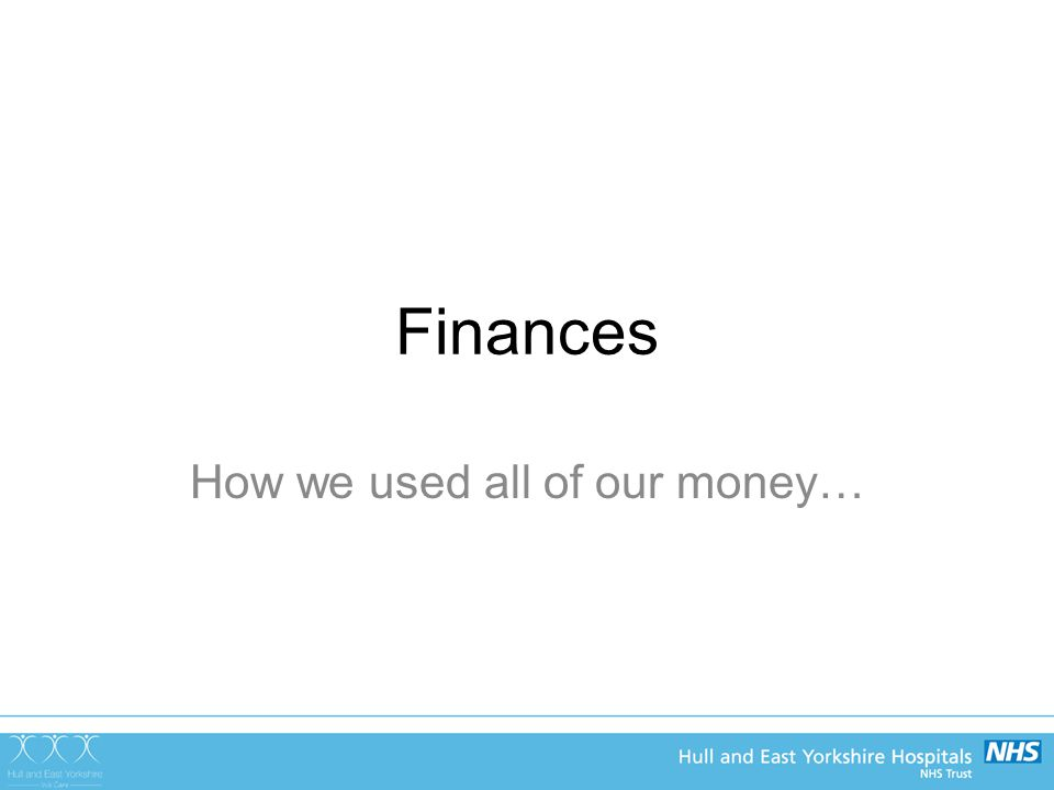 Finances How we used all of our money…