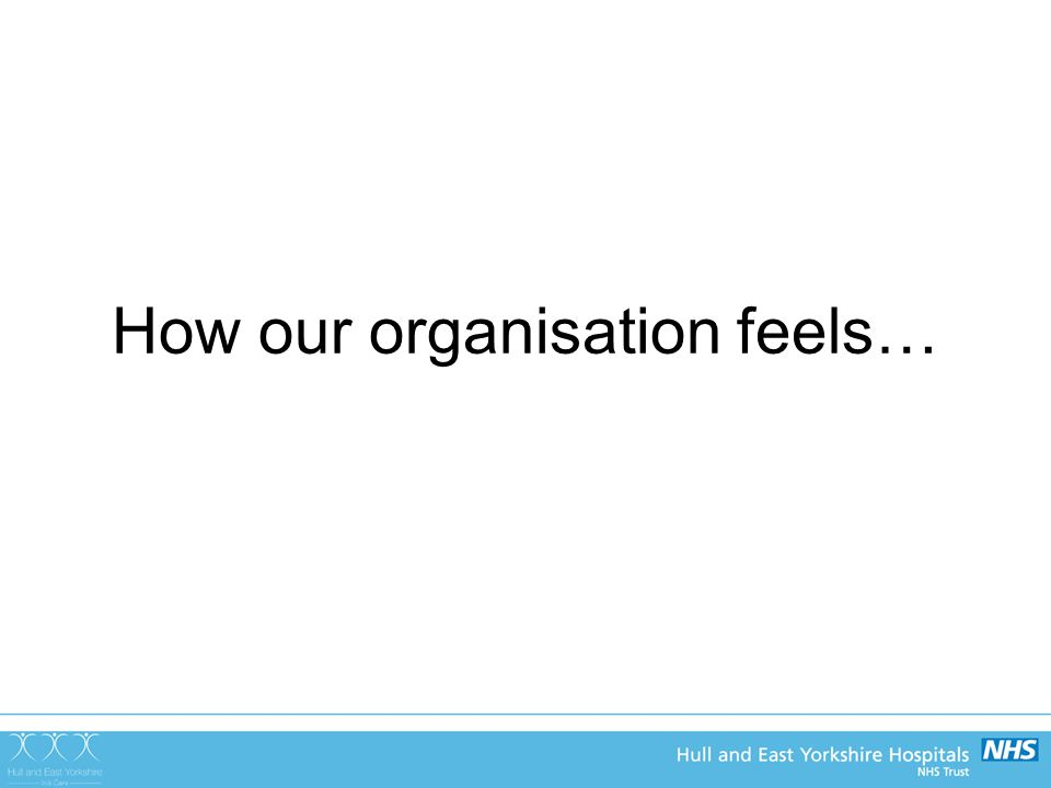 How our organisation feels…