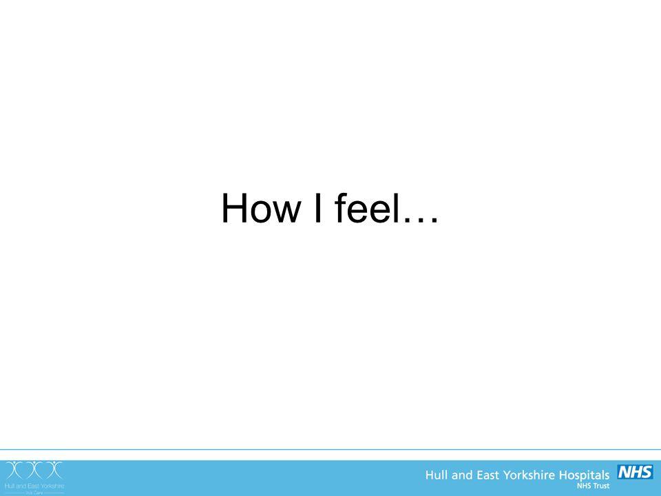 How I feel…