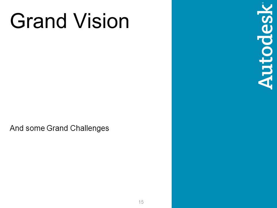 15 Grand Vision And some Grand Challenges