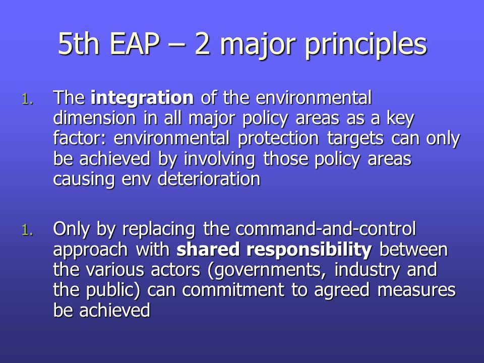 5th EAP – 2 major principles 1.