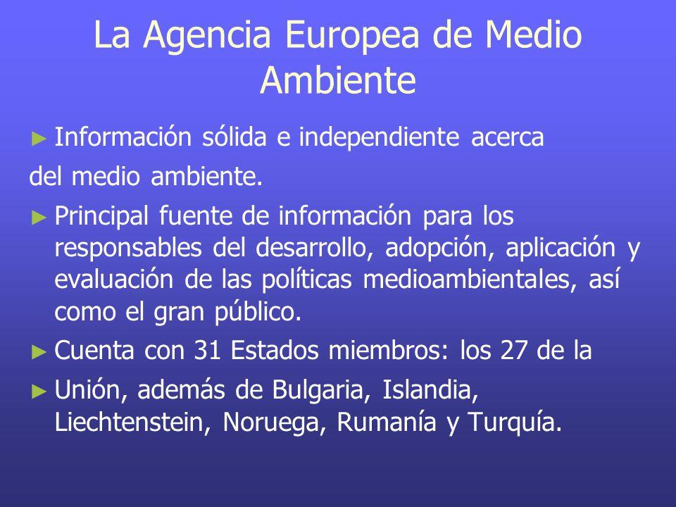 La Agencia Europea de Medio Ambiente ► ► Información sólida e independiente acerca del medio ambiente.