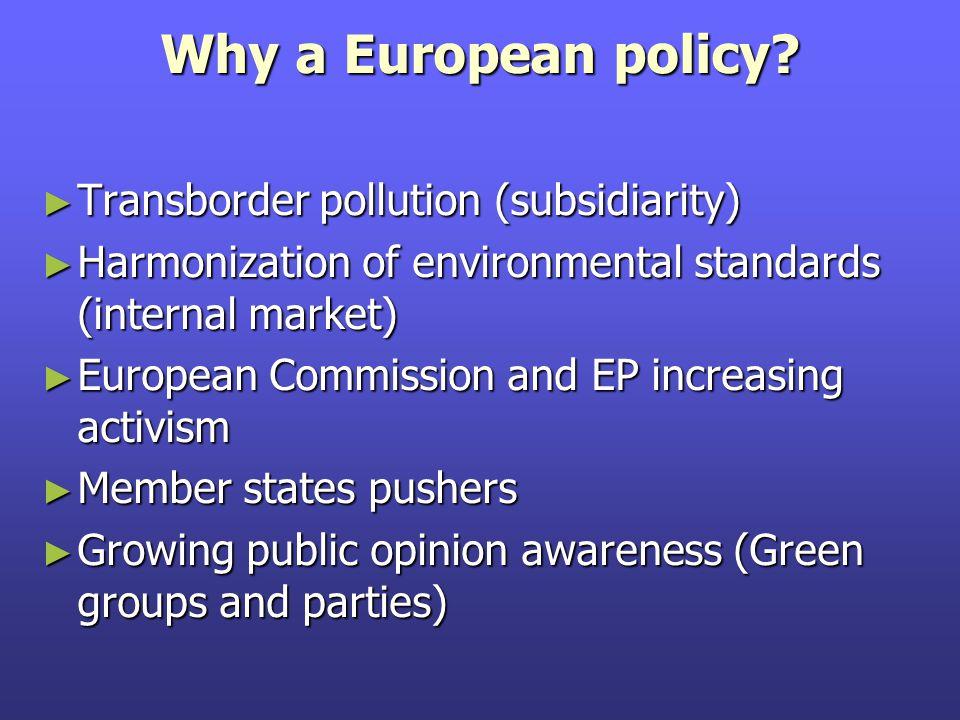 Why a European policy.