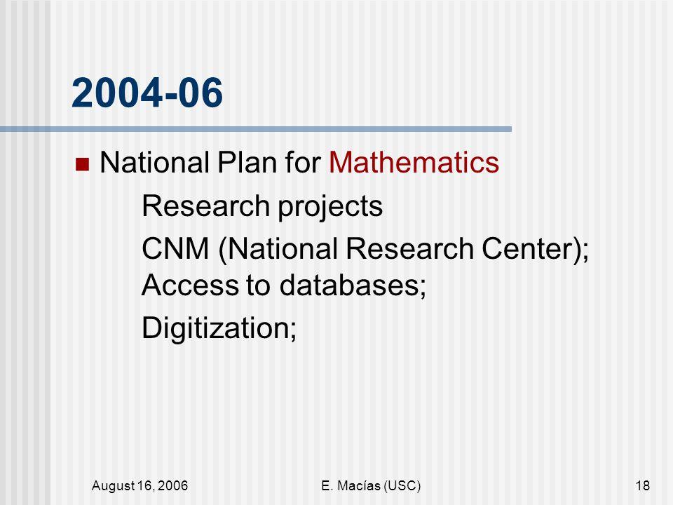 August 16, 2006E.