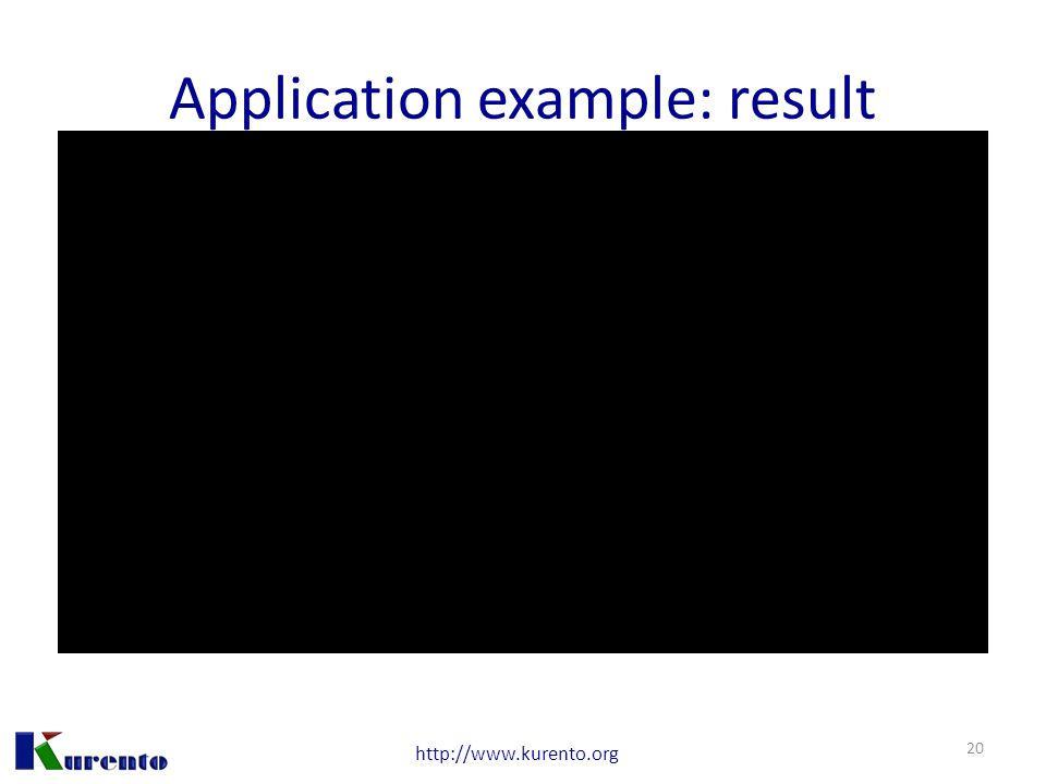 http://www.kurento.org Application example: result 20