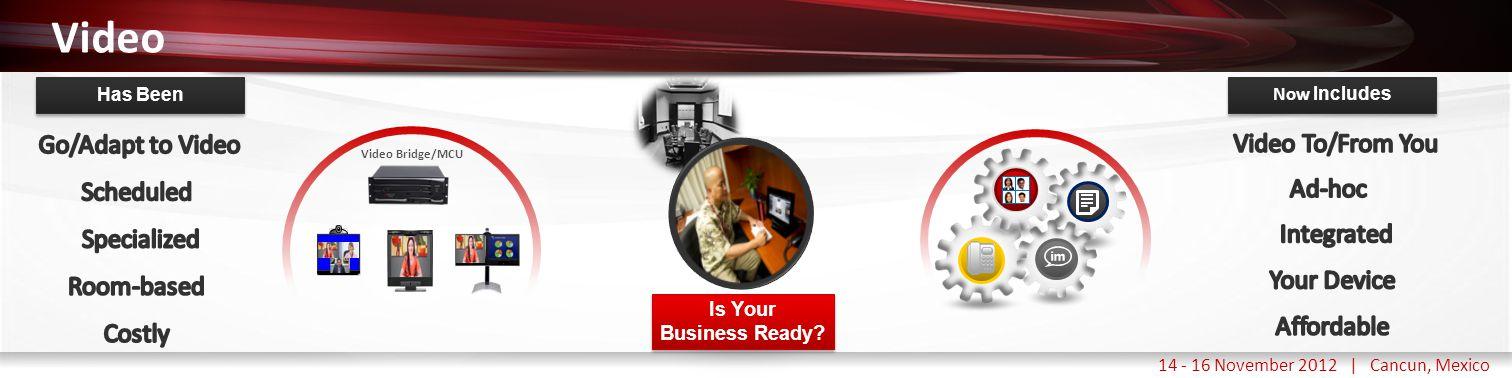 Haga clic para modificar el estilo de título del patrón 14 - 16 November 2012 | Cancun, Mexico Video Is Your Business Ready? Is Your Business Ready? V