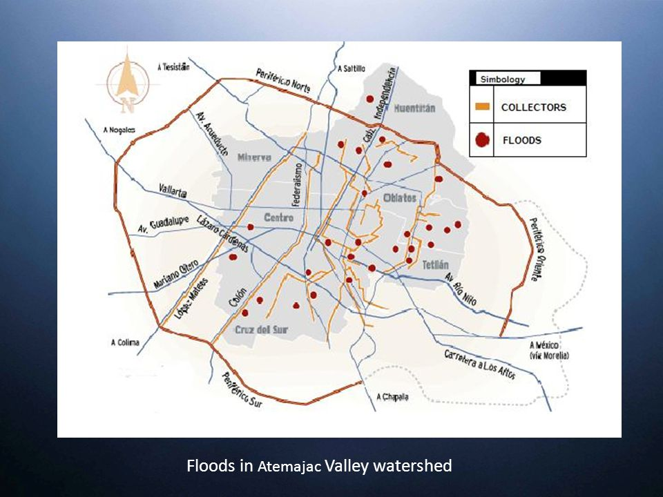 Floods in Atemajac Valley watershed